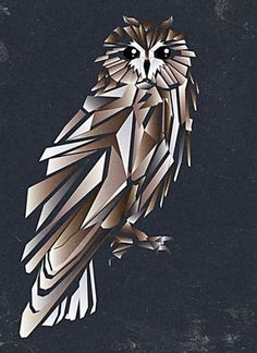 cub ist on the Behance Network #rn #owl #sigga #cubism #iceland