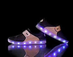 2016 Fashion luminous breathable Kids shoes black