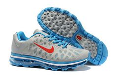 Nike Air Max 2011 Grey Blue Red-Mens #shoes
