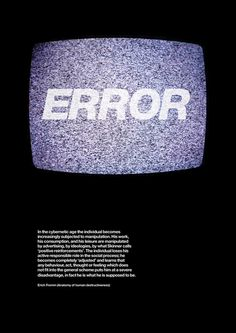 errorerrorerrorerrorerror #error #static #tv #poster