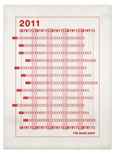 The Made Shop #print #design #calendar