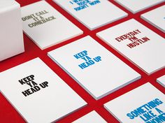 Affirmations #print #typography #business cards #layout #quote