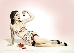 Fuck Yeah, Tattoos. #lingerie #cherries #underwear