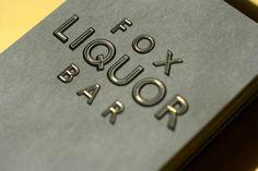 FPO: Fox Liquor Bar Business Card #cards #business #foil