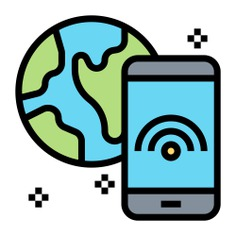 See more icon inspiration related to wifi, internet, globe, wifi signal, wireless connectivity, electronics, mobile phone, communications, smartphone, connection, cellphone and mobile on Flaticon.