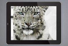 Creative Review WWF's new iPad app #wwf #type #app