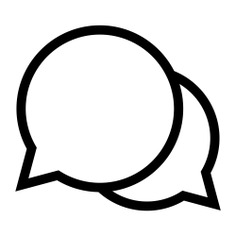 See more icon inspiration related to chat, conversation, message, speech bubble, speech balloon, chatting and interface on Flaticon.