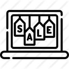 See more icon inspiration related to commerce and shopping, electronics, sale, discount, laptop, technology and computer on Flaticon.