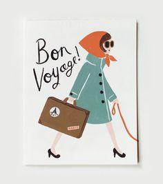 Bon Voyage Card #bon voyage
