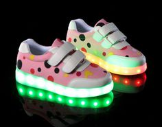 2016 light up shoes LED round head low flat shoes