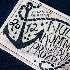 Seesack3 Nullkommasiebenprozent #nautic #lettering #print #screen #printing #nullkommasiebenprozent #fairtrade #anchor #organic #typography
