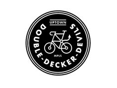 FFFFOUND! | Dribbble - Mpls Bike Gangs / Double Decker Devils by Allan Peters #logo