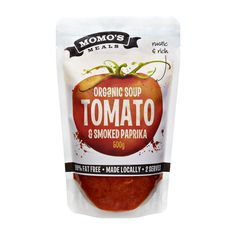 Momo's Meals Packaging Artwork on Behance #tomato #soup #pouch