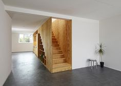 Eclépens apartment interiors with boxy wooden furniture by Big-Game #interior