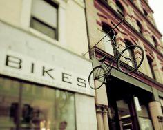 il_570xN.251483096.jpg (570×456) #bicycle #sign #retro #store #vintage #bike