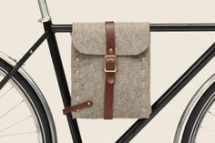 Felt Bike Bag | The Design Ark #felt bike bag