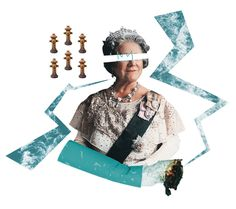 The Queen Smoke Collage - John Sippel   vltrr vltrr.com #collage #royalty #queen #punk #cigarettes