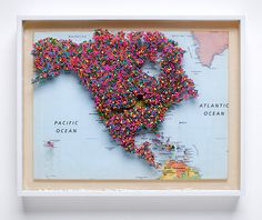 Places I Havent Been (North America) north america multiples maps colors #usa #map #pins