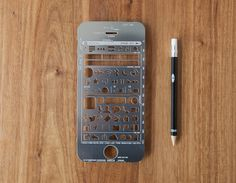 iPhone Stencil Kit #stencils #ui