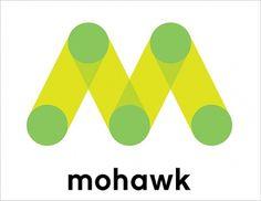 Mohawk Logo #branding #monogram #logo #pentagram #mohawk