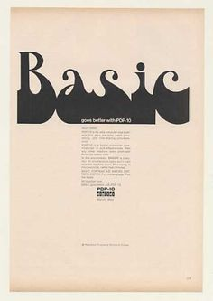 Basic Goes Better with Digital PDP 10 Computer (1968)