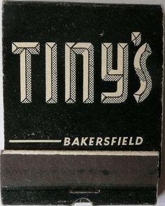 TINY'S #typography #type #3d type #matchbook