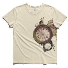 #zamanya roma #beige #tee #tshirt #rome #statue #clock #hippodrome #italy #time #ethemonur