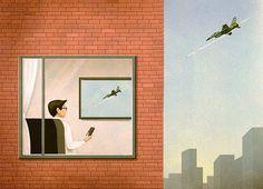 The Sad Face of Society in Marco Melgrati's Illustrations