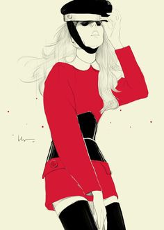 Floyd Grey #illustration #red