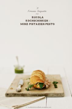 ham mint pistachio pestO and arugula baguette #ham #hank #food #yum #photography