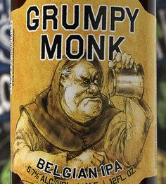 Sam Adams Grumpy Monk #packaging #beer #label #bottle