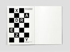 Dicionário das Ideias Feitas on Behance #chess #old #white #black #spread #xadrez #game #squares