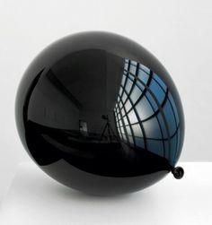 EIKNARF #black #reflection #balloon