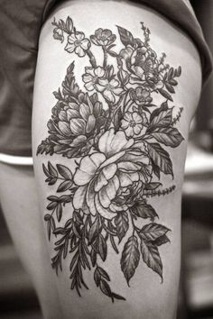 tap_347242616 #tattoo #arm #floral #black