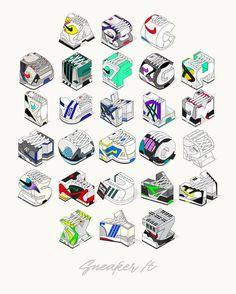 Artist Creates Sneaker Alphabet Using Timeless Models Typography kicks
