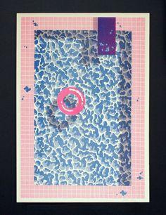 Pool #pattern 80s retro