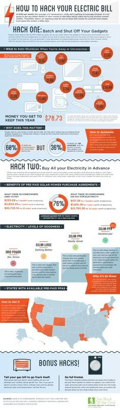 How to hack your electric bill #hack #electric #bill #infographic #green