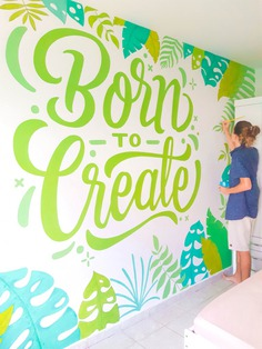 Mural BORN TO CREATE