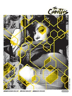 The Comettes - Gig Poster