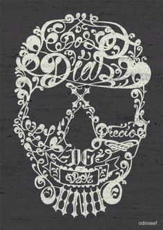 ODISSEEF: Calavieri #creative #illustration #skull