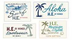 Mango labels by Glenn Wolk