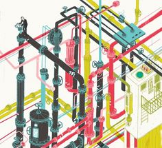 Josh Cochran: work #illustration #pipes
