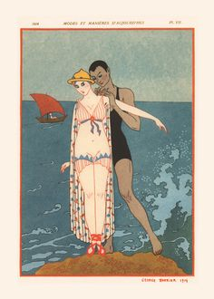 ROMANTIC FASHION POSTER Nautical Fashion Poster French
