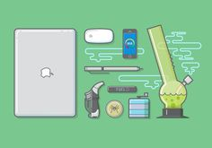 mac, apple, macbook, mouse, pen, illustration #mac #apple #macbook #mouse #pen #illustration #workflow