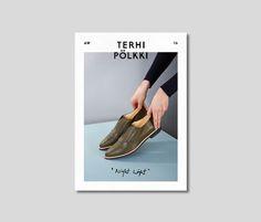 Terhi Pölkki A/W 2016 look book. Design Tony Eräpuro #lookbook #fashion #finland #shoes #layout #cover