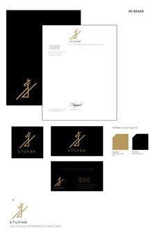 Stupak Hospitality Management Group #sexy #las #branding #black #clean #advertising #gold #logo #vegas
