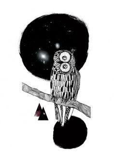 Maria Fischer · Portfolio · Illustration #owl #fischer #illustration #maria #collage
