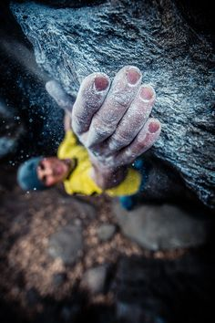 Portraits of a Climber Hanging By His Fingertips My Modern Metropolis #photo #rock #sport #hand #climbing