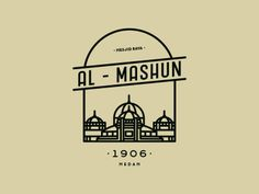 al - mashun #pictogram #design #graphicdesign #mosque #medan