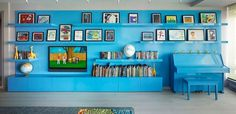 Blue room with artistic look